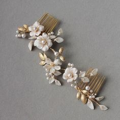 Inspired by cherry blossoms, loving this gold and ivory colour palette ✨  #bridalheadpiece #cherryblossoms #bridal #hair #weddinghair #percyhandmade #weddingheadpiece #hairpiece #custom #bride #accessories #bridalaccessories #bridalhair