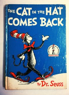 Vintage Cat in the Hat Comes Back book. Dr. Seuss. Circa 1958. EARLY PRINTING. Children's book. Collectible.