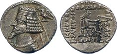 Ancient Greek, Roman and Byzantine Coins Type: Phraates IV (38/7-2 BC), Silver Drachm, 3.64g, 12h.