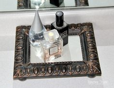 Upcycle a broken picture frame into vanity tray