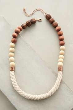 Anthropologie Ropewood Necklace #anthrofave
