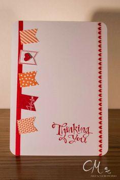 Grußkarte: Stempelset Im Fähnchenfieber & Sassy Salutations, Tizzy Tuesday Challenge, Stampin' Up!