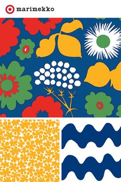The Marimekko for Target collection features 18 stunning prints and over 200 pieces of designer chic, all available April 17. Each print was created to capture the brilliance of life; from fresh fruit on a trip to Spain to mimicking the way water ripples and the swell and sway of the sea. Add a bit of play to your every day with the Marimekko for Target collection.