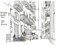 Gérard Michel | Barcelone 2013, carrer dels Mercaders.