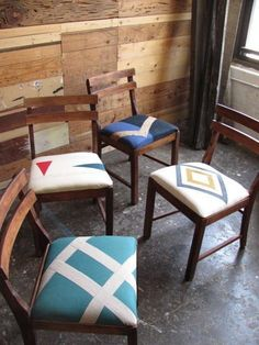 Upholstery idea for the kitchen chairs.