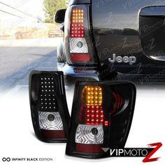 99-04 Jeep Grand Cherokee Black LED Tail Lamps Turn Signal+Brake Lights Assembly | eBay Motors, Parts & Accessories, Car & Truck Parts | eBay!