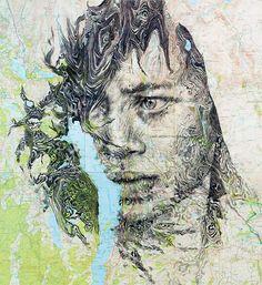Ed Fairburn: El mapa transformado en rostro. | «Comienzo de 0».