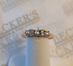 Antique Victorian 14k Old Mine Diamond and by BeckersJewelersCT