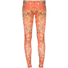 MCQ BY ALEXANDER MCQUEEN Floral legging ($235) ❤ liked on Polyvore