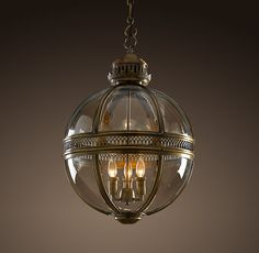 Love this light fixture for front hall and/or possibly new kitchen/living area Victorian Hotel Pendant Antique Brass Restoration Hardware