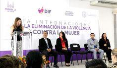 La presidenta del DIF Morelia, Paola Delgadillo, dio inicio a los trabajos y conferencias en el marco del Día Internacional de la Eliminación de la Violencia contra la Mujer, a ...