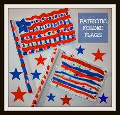 Patriotic Folded Flags (from The Chocolate Muffin Tree)