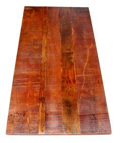 Cafébordstel og -plader : Bordplade af genbrugstræ - lang