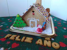 Casita de galleta de jengibre decorada-Gingerbread decorated house