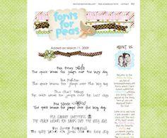 cute fonts - free downloads