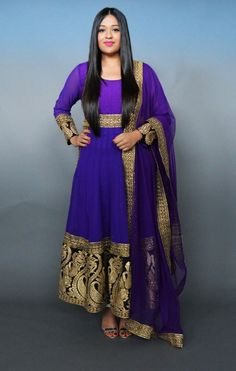 Royal blue and gold anarkali from Dress To Empress - Rent or Buy high quality Indian clothes in Canada - http://www.dresstoempress.ca/