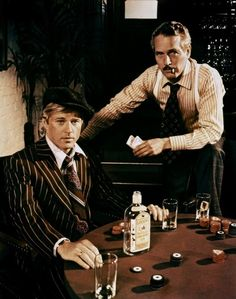 Great still from the 1973 movie The Sting Robert Redford & Paul Newman Personally I think these two would be able to con their way through any situation, via Micheline Bendich