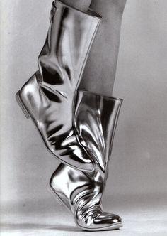 Courrèges boots photographed by Greg Kadel Vogue Paris 2001