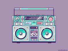 Image via We Heart It #boombox #illustration
