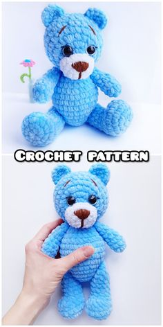 ROCHET PATTERN bear toy - Amigurumi pattern teddy bear - crocheted toy Pattern in English - Crochet ROCHET PATTERN bear toy - Amigurumi pattern teddy bear - crocheted toy Pattern in English - Crochet animal - Pdf Plush tutorial - Knit toy Knitted Teddy Bear, Teddy Bear Toys, Crochet Teddy, Cotton Crochet, Crochet Bear Patterns, Crochet Animals, Amigurumi Patterns, Rabbit Toys, Bear Doll