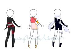 Naruto Outfit Adopts 2 (CLOSED) by SpringPeachAdopts.deviantart.com on @DeviantArt