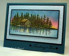 Stampscapes at Sunset by PJStamps - Cards and Paper Crafts at Splitcoaststampers