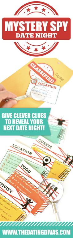 Mystery Spy Date Night Idea- such a fun idea! From The Dating Divas