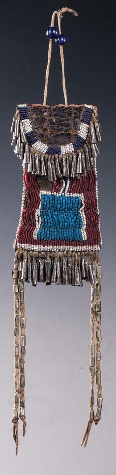 Kiowa Beaded Strike-A-Light Bag - Old West Events