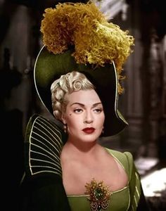"Lana Turner as Lady de Winter in ""The Three Musketeers"" Costume design by Walter Plunkett and cleavage pin by Joseff Hollywood.love these types of hats. Hollywood Jewelry, Old Hollywood Glamour, Vintage Hollywood, Hollywood Stars, Classic Hollywood, Hollywood Usa, Hollywood Girls, Hollywood Actresses, Lana Turner"