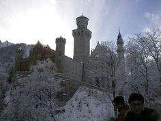 Neuschwanstein Castle... I don't know those guys but other than them, it's a good picture. :)