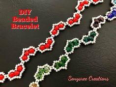 making beaded jewelry Making Bracelets With Beads, Bracelets Fins, Beaded Bracelets Tutorial, Beaded Bracelet Patterns, Handmade Bracelets, Beading Patterns, Colorful Bracelets, Beads Tutorial, Embroidery Bracelets