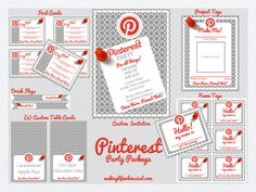 Making Life Whimsical: Pinterest Birthday Party Printable Set #pinterestparty