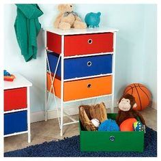 With ample storage space, the RiverRidge Home Sort & Store - Kids 4 Bin Organizer makes it simple to store toys, craft supplies, and more.