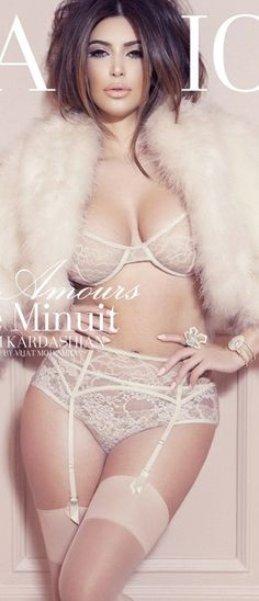 Kim kardashian shoot, so in love with the fur and the lingerie, need this!!