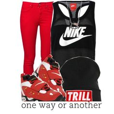 Trill Nike ., created by trillest-queen on Polyvore Hot Outfits, Nike Outfits, Teen Fashion Outfits, Swag Outfits, Outfits For Teens, Winter Outfits, Summer Outfits, Casual Outfits, Chill Outfits