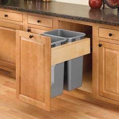 Double Trash Pullout 35 Quart-Wood (#4WCTM-RM-2135DM-2) by Rev-A-Shelf