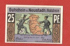 Germany Neustadt Holstein 25 pfennig 1921 banknote notgeld nord schleswigs 1920