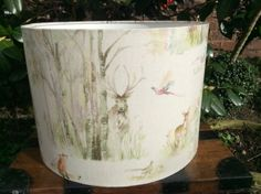 A fabulous lamp shade made to order in a size to suit your lamp base, a beautiful country scene that would contrast well in many rooms. Www.lovablelampshades.co.uk