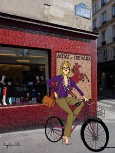 Angéline Mélin illustration on a photo