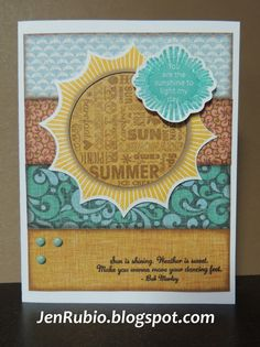 card by Jen Rubio using CTMH Surf's Up paper