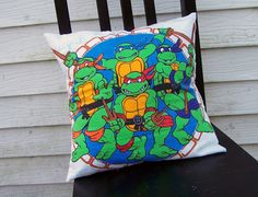 Teenage Mutant Ninja Turtles Pillow Case TMNT Pillowcase Blue Home ...