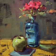 Last Roses, painting by artist Cathleen Rehfeld
