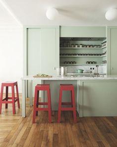 Cuisine semi-ouverte sur le salon : aménagement, conception, bonnes idées... - Côté Maison