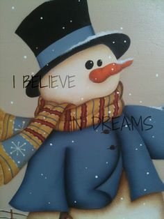 I BELIEVE IN DREAMS Christmas Images, Christmas Snowman, All Things Christmas, Winter Christmas, Christmas Time, Christmas Crafts, Christmas Ideas, Cute Paintings, Country Paintings