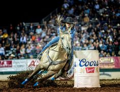 They say the more horses you ride the better you get, Stevi Hillman Professional Barrel Racer is a true testament of that. Three time NFR qualifier, Stevi, recalls being put on a horse before she could walk.   Stevi is currently sitting #7 in the world with earnings of $58,030.56!   #5starpads  #rodeo #rodeolife #rodeofashion #rodeostyle #rodeohorse #rodeogirls #horsegirl #barrelrace #barreleracer #barrelracing #barrelhorse #WPRA #prorodeo #rodeos Barrel Racing Outfits, Barrel Racing Quotes, Barrel Racing Saddles, Barrel Racing Horses, Barrel Horse, Horse Saddles, Horse Halters, Western Saddles, Cowgirl Chaps