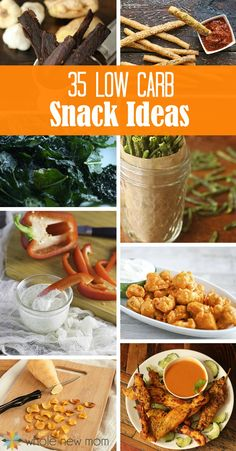 Whether you're cutting carbs or not, these 35 low carb snacks are great healthy options for the whole family. Mostly dairy and egg-free - all gluten-free.