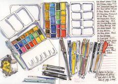 Liz Steel art supplies. Flickr
