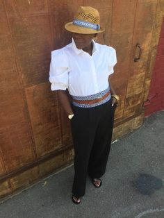 Today's style story takes you to Cuba with accents that bring an outfit alive - fedora, a corset wrap belt, masculine sandals at So What to Twenty!: Inspired By...Chanel!