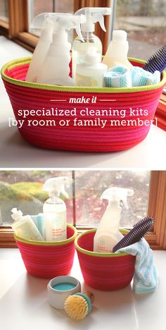 love these ideas on making pretty cleaning kids for the bathrooms & kitchen or one for mom and one for the kiddos.
