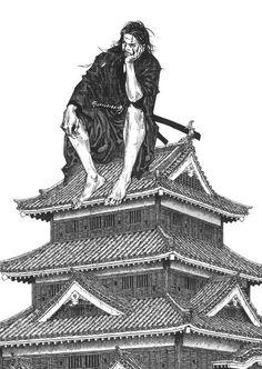 Vagabond by Takehiko Inoue Manga Anime, Art Anime, Manga Drawing, Manga Art, Vagabond Manga, Inoue Takehiko, Cooler Stil, Samurai Artwork, Tokyo Ghoul Manga